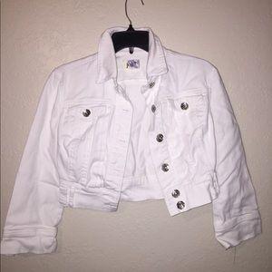 Jolt white cropped fit jacket
